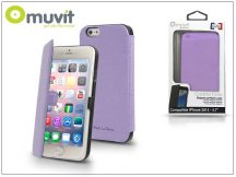 Apple iPhone 6/6S flipes tok - Muvit Crystal Folio - lila