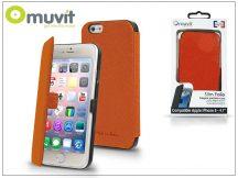 Apple iPhone 6/6S flipes tok - Muvit Slim Folio - orange