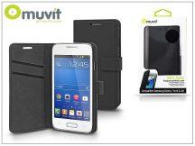 Samsung SM-G318H Galaxy Trend 2 Lite flipes tok kártyatartóval - Muvit Slim Folio - black