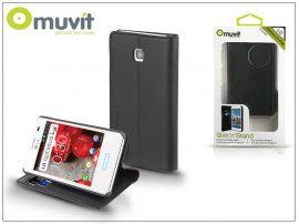 LG E430 Optimus L3 II flipes tok kártyatartóval - Muvit Slim and Stand - black
