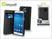 Samsung SM-G800 Galaxy S5 Mini flipes tok kártyatartóval - Muvit Slim and Stand - black