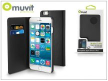 Apple iPhone 6 Plus/6S Plus flipes tok kártyatartóval - Muvit Wallet Folio - black