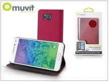 Samsung SM-G850 Galaxy Alpha flipes tok kártyatartóval - Muvit Slim and Stand - pink