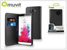 LG G3 S D722 flipes tok kártyatartóval - Muvit Wallet Folio - black