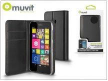 Nokia Lumia 530 flipes tok kártyatartóval - Muvit Wallet Folio - black