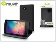 LG F60 D390N flipes tok kártyatartóval - Muvit Wallet Folio - black
