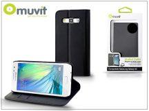 Samsung SM-A300F Galaxy A3 flipes tok kártyatartóval - Muvit Wallet Folio - black