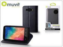 LG L60 X145 flipes tok kártyatartóval - Muvit Wallet Folio - black