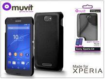 Sony Xperia E4 (E2104/E2105) hátlap - Made for Xperia Muvit Soft Touch - black