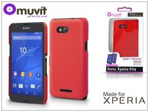 Sony Xperia E4G (E2003) hátlap - Made for Xperia Muvit Soft Touch - red