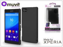 Sony Xperia Z5 Compact (E5803) hátlap - Made for Xperia Muvit Soft Touch - black