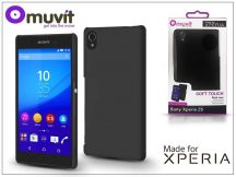 Sony Xperia Z5 (E6653) hátlap - Made for Xperia Muvit Soft Touch - black