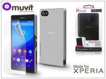 Sony Xperia Z5 Compact (E5803) hátlap edzett üveg képernyővédő fóliával - Made for Xperia Muvit Clear Back - clear