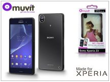 Sony Xperia Z3 (D6603) hátlap - Made for Xperia Muvit My Frame - black/clear