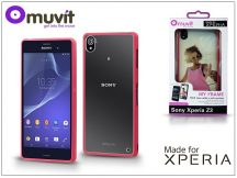 Sony Xperia Z3 (D6603) hátlap - Made for Xperia Muvit My Frame - pink/clear