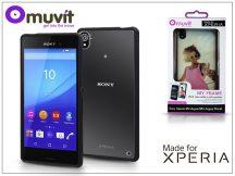 Sony Xperia M4 Aqua (E2303/E2306/E2353)/Xperia M4 Aqua Dual (E2312/E2333/E2363) hátlap - Made for Xperia Muvit My Frame - black/clear