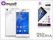 Sony Xperia Z3 (D6603) képernyő- és hátlapvédő fólia - Made for Xperia Muvit - 2 db/csomag - antifinger/antiglare