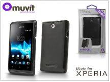 Sony Xperia E (C1505) hátlap - Made for Xperia Muvit miniGel - black