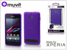 Sony Xperia E1 hátlap - Made for Xperia Muvit miniGel - lila