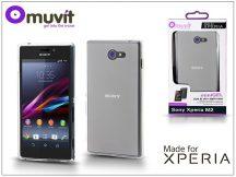 Sony Xperia M2 (D2305) hátlap - Made for Xperia Muvit miniGel - clear