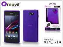 Sony Xperia M2 (D2305) hátlap - Made for Xperia Muvit miniGel - lila