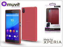 Sony Xperia Z5 (E6653) hátlap - Made for Xperia Muvit miniGel - red