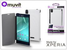 Sony Xperia T3 (D5103) flipes tok - Made for Xperia Muvit Ultra Slim Folio - white