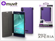Sony Xperia T3 (D5103) flipes tok - Made for Xperia Muvit Ultra Slim Folio - lila