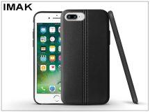 Apple iPhone 7 Plus/iPhone 8 Plus hátlap képernyővédő fóliával - IMAK Vega Leather - fekete