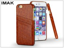 Apple iPhone 6/6S hátlap kártyatartóval - IMAK Wise Card Leather - barna