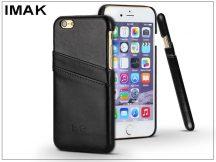 Apple iPhone 6 Plus/6S Plus hátlap kártyatartóval - IMAK Wise Card Leather - fekete