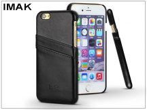 Apple iPhone 6 Plus/6S Plus hátlap kártyatartóval - IMAK Wise Card Leather - fekete