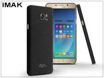 Samsung SM-N920 Galaxy Note 5 hátlap - IMAK Sandstone Super Slim - fekete