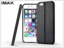 Apple iPhone 6 Plus/6S Plus hátlap képernyővédő fóliával - IMAK Vega Leather - fekete