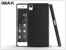 Sony Xperia X Performance (F8132) hátlap képernyővédő fóliával - IMAK Vega Leather - fekete