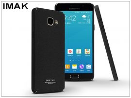 Samsung A710F Galaxy A7 (2016) hátlap - IMAK Sandstone Super Slim - fekete