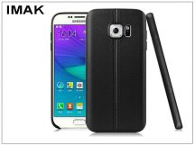 Samsung G930F Galaxy S7 hátlap képernyővédő fóliával - IMAK Vega Leather - fekete