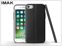 Apple iPhone 7/iPhone 8 hátlap képernyővédő fóliával - IMAK Vega Leather - fekete