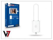 V7 Pico 2 DVB-T TV tuner Lightning csatlakozóval rendelkező készülékekhez - fehér