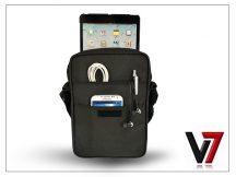 Univerzális tablet táska 8.1&quot, méretű készülékig - V7 Premium Messenger Bag - black