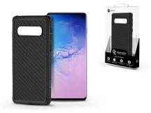 Samsung G973U Galaxy S10 szilikon hátlap - Roar Carbon Armor Ultra-Light Soft Case - fekete