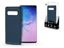 Samsung G973U Galaxy S10 szilikon hátlap - Roar Carbon Armor Ultra-Light Soft Case - kék