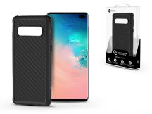 Samsung G975U Galaxy S10+ szilikon hátlap - Roar Carbon Armor Ultra-Light Soft Case - fekete