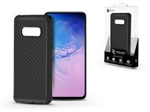 Samsung G970U Galaxy S10e szilikon hátlap - Roar Carbon Armor Ultra-Light Soft Case - fekete