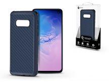Samsung G970U Galaxy S10e szilikon hátlap - Roar Carbon Armor Ultra-Light Soft Case - kék