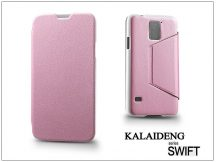 Samsung SM-G900 Galaxy S5 flipes tok - Kalaideng Swift Series - pink