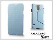 Samsung SM-G900 Galaxy S5 flipes tok - Kalaideng Swift Series - turquoise blue