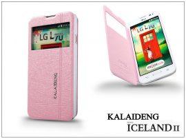 LG L70 D320N flipes tok - Kalaideng Iceland 2 Series View Cover - pink