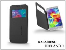 Samsung SM-G900 Galaxy S5 flipes tok - Kalaideng Iceland 2 Series View Cover - black