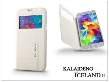 Samsung SM-G900 Galaxy S5 flipes tok - Kalaideng Iceland 2 Series View Cover - white